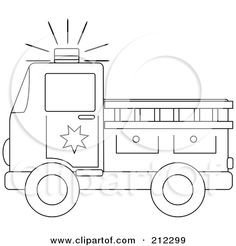 Fire Truck Template Printable Fire Engine Template for the Boy Pinterest