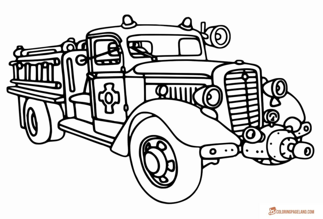 Fire Truck Template Printable Fire Truck Coloring Pages Free Printable In Hd
