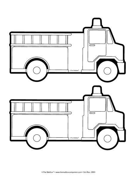 Fire Truck Template Printable Fire Truck Pattern Classroom Ideas