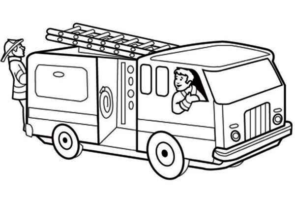 Fire Truck Template Printable Firetruck 25 Transportation – Printable Coloring Pages