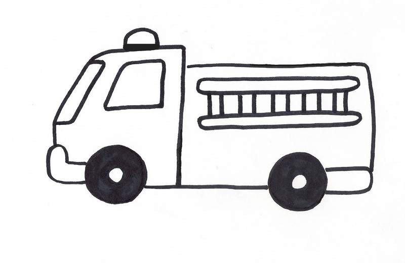 Fire Truck Template Printable Flannel Friday Firetruck Template Rovingfiddlehead Kidlit