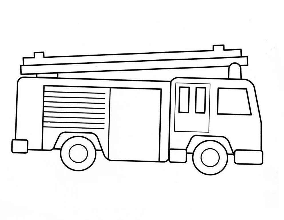 Fire Truck Template Printable Free Printable Fire Truck Coloring Pages for Kids