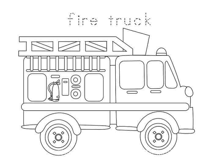 Fire Truck Template Printable Preschool Fire Safety Booklet Printables