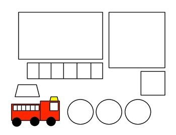Fire Truck Template Printable Shape Fire Truck Craft and Fire Straw Blowing Art House