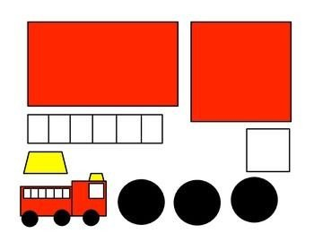 Fire Truck Template Printable Shape Fire Truck Craft Template Google Search