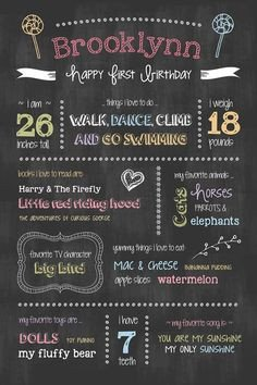 First Birthday Chalkboard Template 1000 Images About Chalkboard On Pinterest
