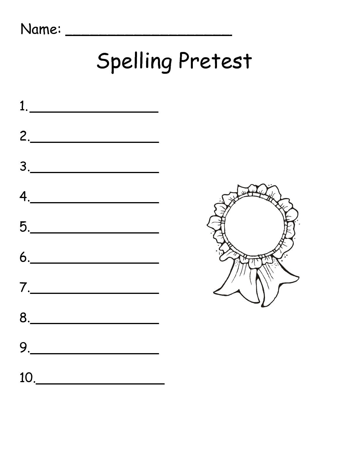 First Grade Spelling Test Template Wonders First Grade Unit Two Week Three Printouts