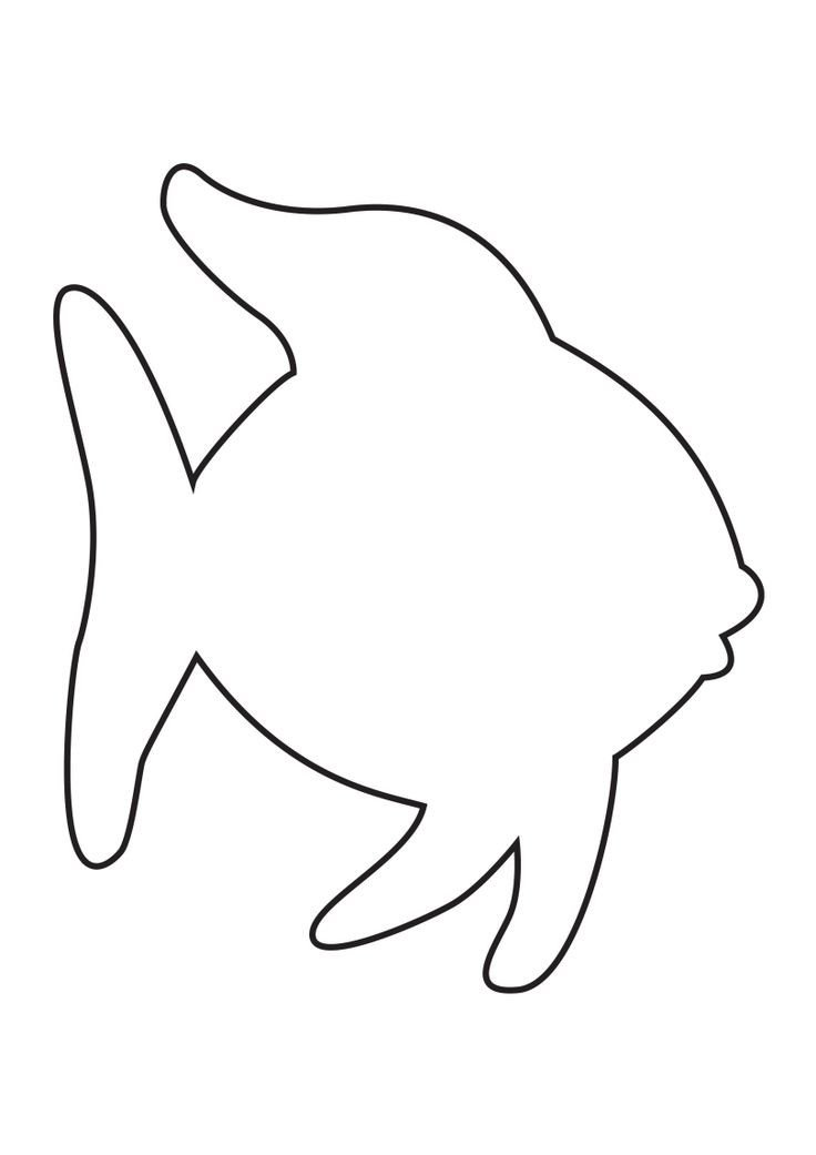 Fish Cut Out Template 25 Best Ideas About Fish Template On Pinterest