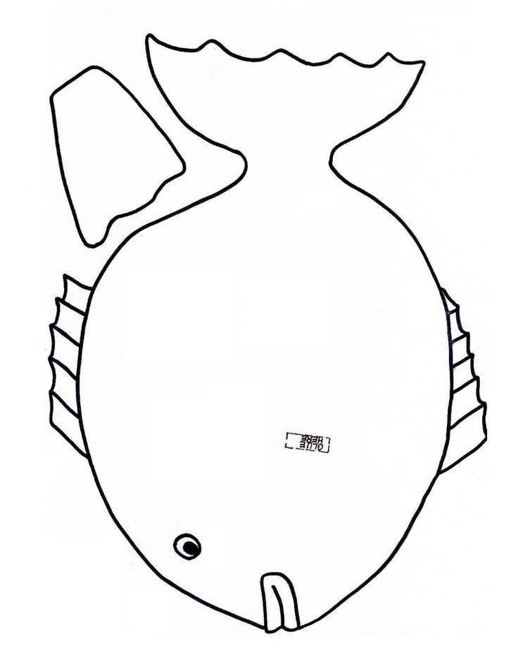 Fish Cut Out Template Fish Cutout Template Coloring Home