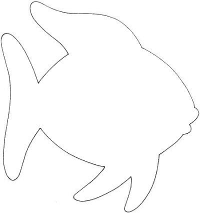 Fish Cut Out Template Happy Day Pre K Crafts the Rainbow Fish