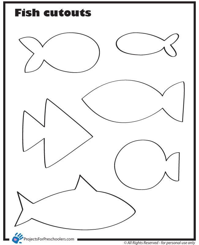 Fish Cut Out Template Use these Fish Cut Outs to Make Fishing for Feelings Games