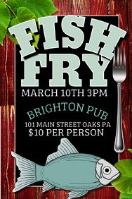 Fish Fry Flyer Template 190 Customizable Design Templates for Fish Fry