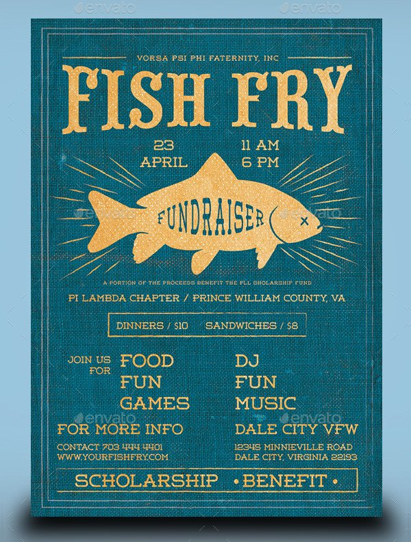 Fish Fry Flyer Template 20 Fishing Flyer Templates Free & Premium Download