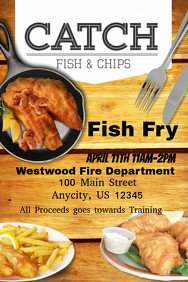 Fish Fry Flyer Template Customizable Design Templates for Fish Fry