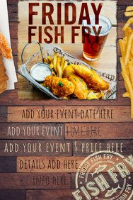 Fish Fry Flyer Template Customize 3 700 Restaurant Flyer Templates