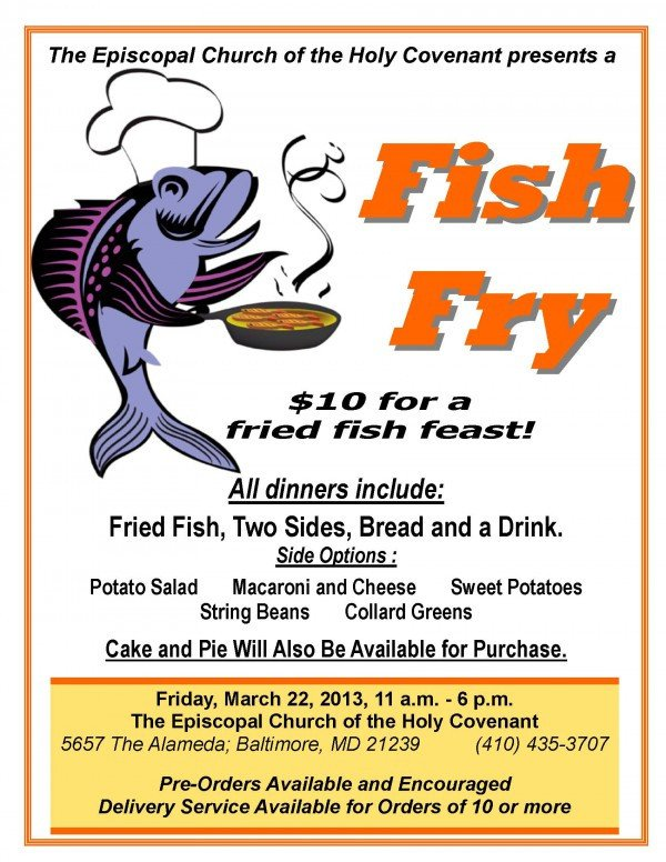 Fish Fry Flyer Template Dinner Sale Template