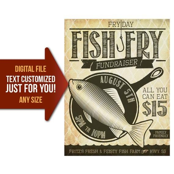 Fish Fry Flyer Template Friday Fish Fry Fish Fry Church Fundraiser Benefit Flyer
