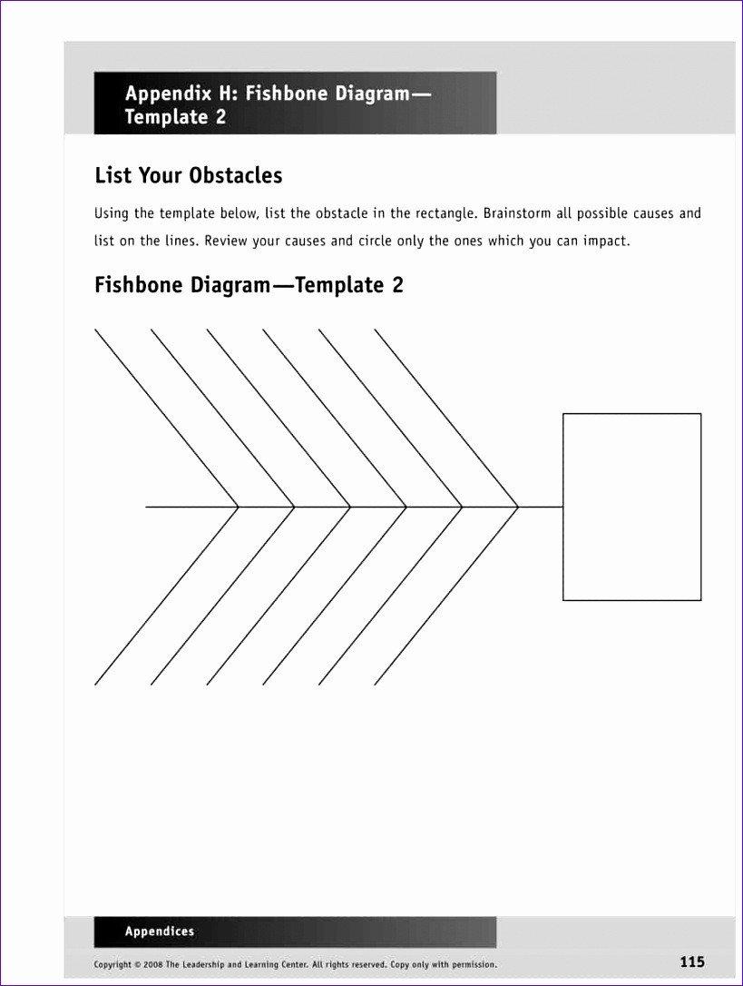 Fishbone Diagram Template Word 8 Fishbone Template Excel Exceltemplates Exceltemplates