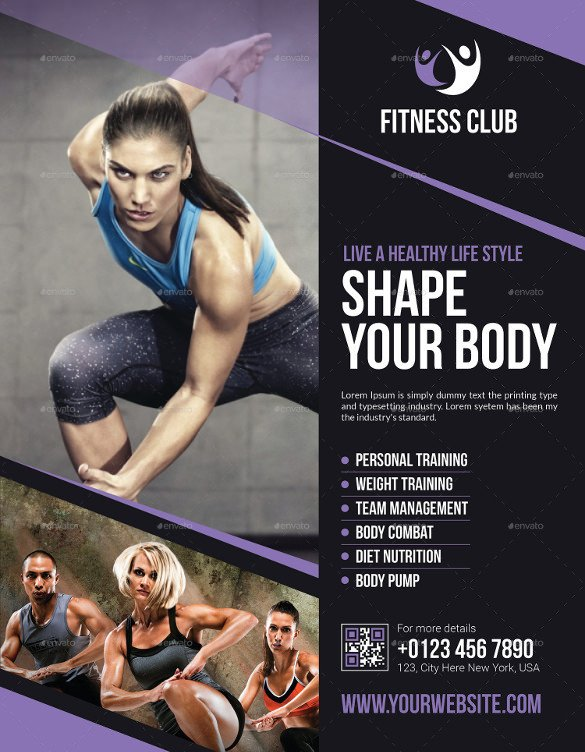 Fitness Flyer Template Free 17 Fitness Flyers Psd Vector Eps Word Ai formats