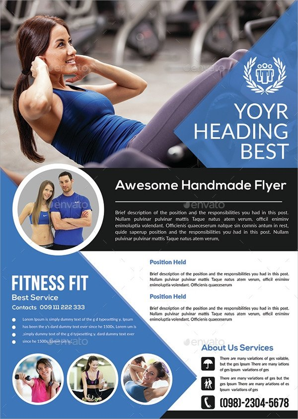 Fitness Flyer Template Free 28 Fitness Flyer Templates Word Psd Ai Publisher
