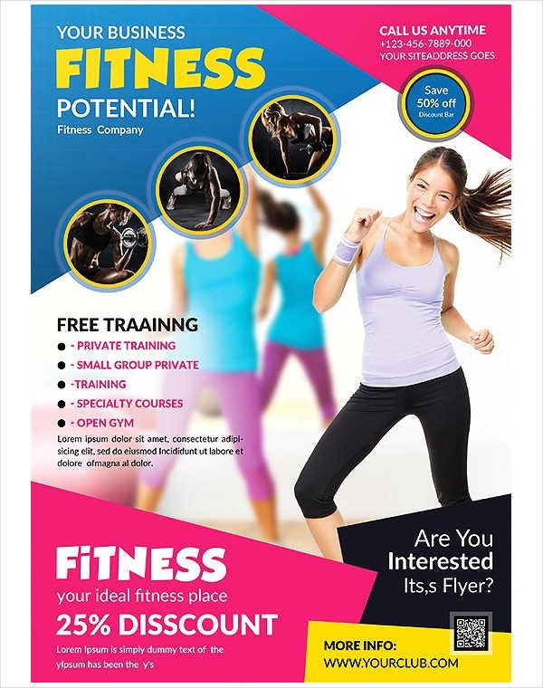 Fitness Flyer Template Free 58 Fitness Flyer Templates Psd Word Ai Eps Vector