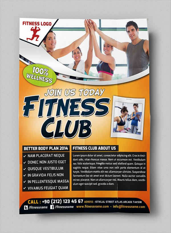 Fitness Flyer Template Free 63 Fitness Flyer Examples Psd Ai Eps Word formats