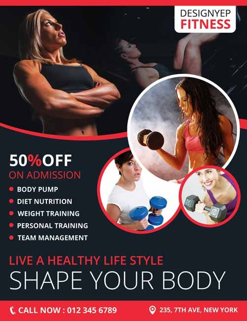 Fitness Flyer Template Free Download Fitness Club Gym Free Flyer Psd Template