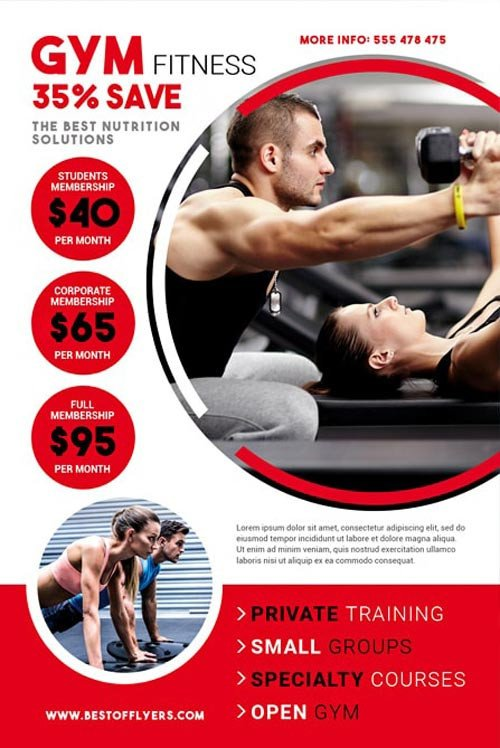 Fitness Flyer Template Free Download the Gym Fitness Free Flyer Template for Shop