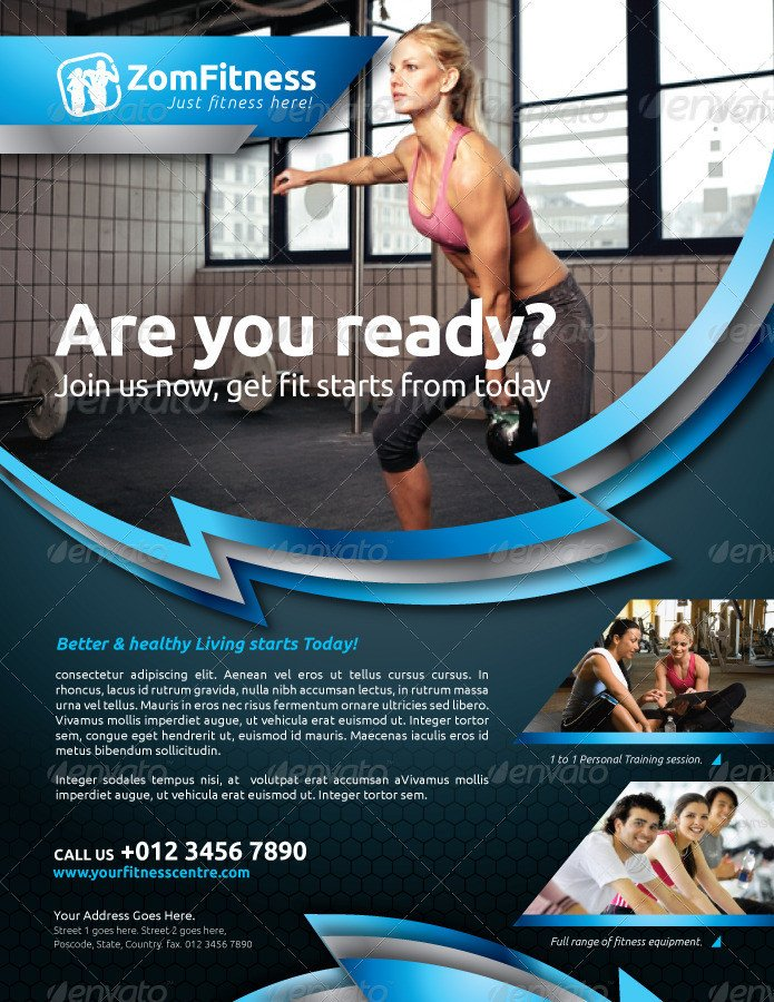 Fitness Flyer Template Free Fitness Flyer Vol 6 by Kitcreativestudio