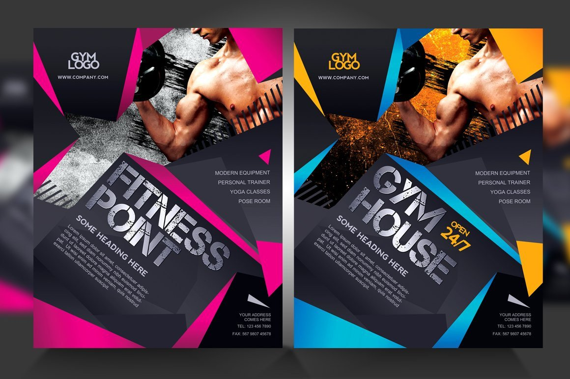 Fitness Flyer Template Free Fitness Gym Flyer V1 Flyer Templates Creative Market