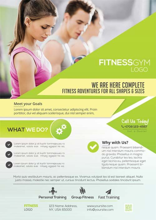 Fitness Flyer Template Free Freepsdflyer