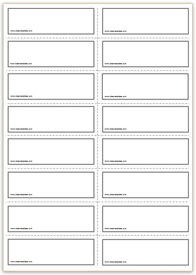 Flash Card Template Word Free Printable Flash Cards Template