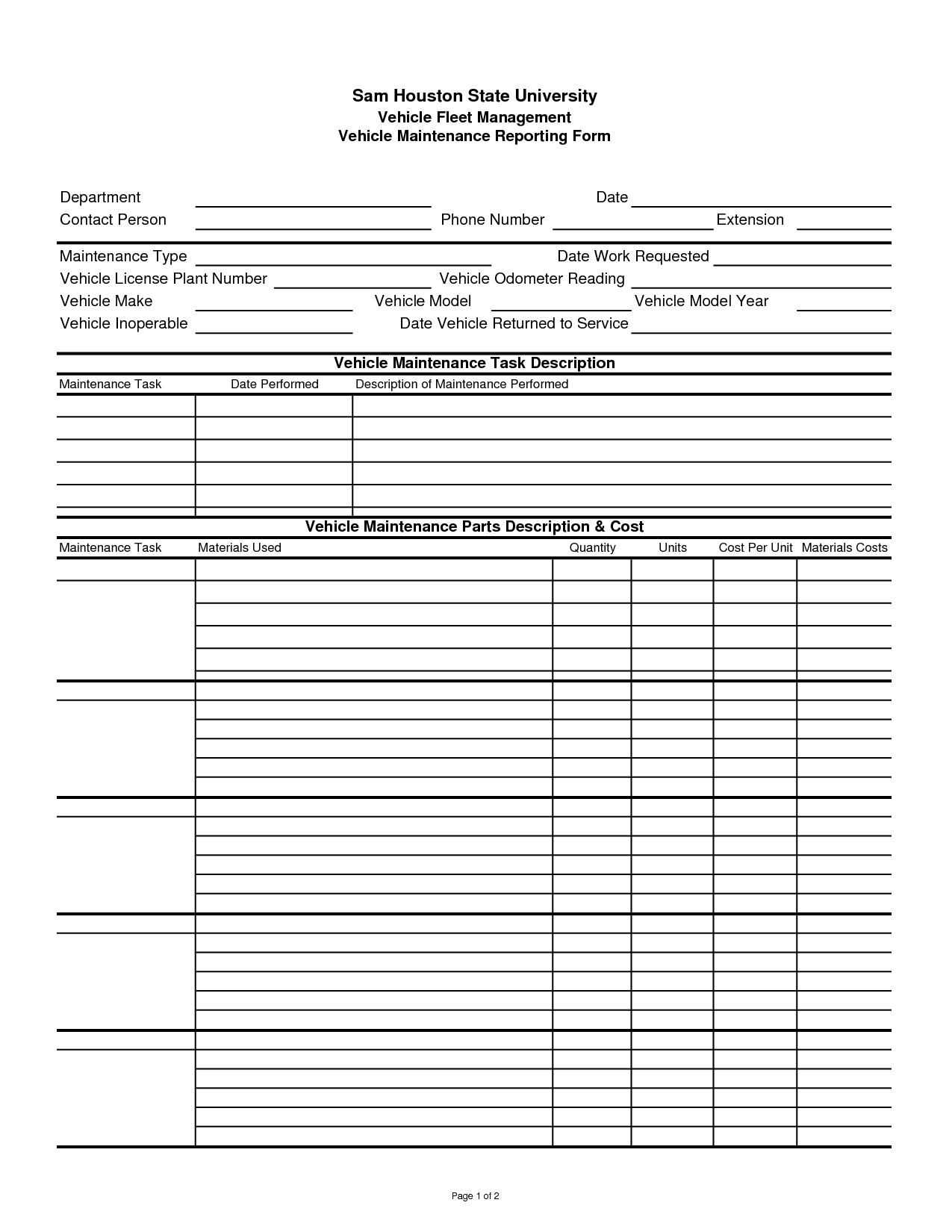 Fleet Vehicle Maintenance Log Template Pin by Lone Wolf software On Car Maintenance Tips