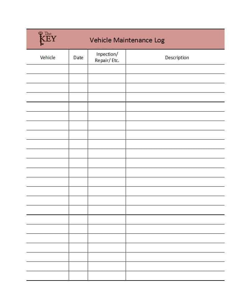 Fleet Vehicle Maintenance Log Template Rv Maintenance Spreadsheet Google Spreadshee Rv