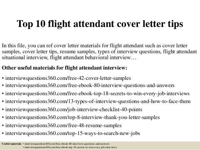 Flight attendant Cover Letter top 10 Flight attendant Cover Letter Tips