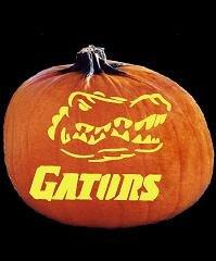Florida Gator Pumpkin Stencil Carving Spookmaster Florida Gators College Football Team Pumpkin