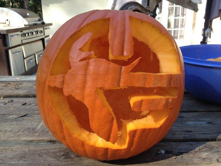 Florida Gator Pumpkin Stencil Carving University Of Florida Gator Pumpkin Carving