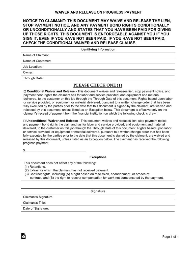 Florida Lien Release forms Free Real Estate Lien Release forms Pdf