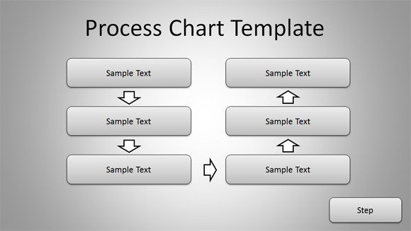 Flow Chart Template Powerpoint Free Free Simple Process Chart Template for Powerpoint