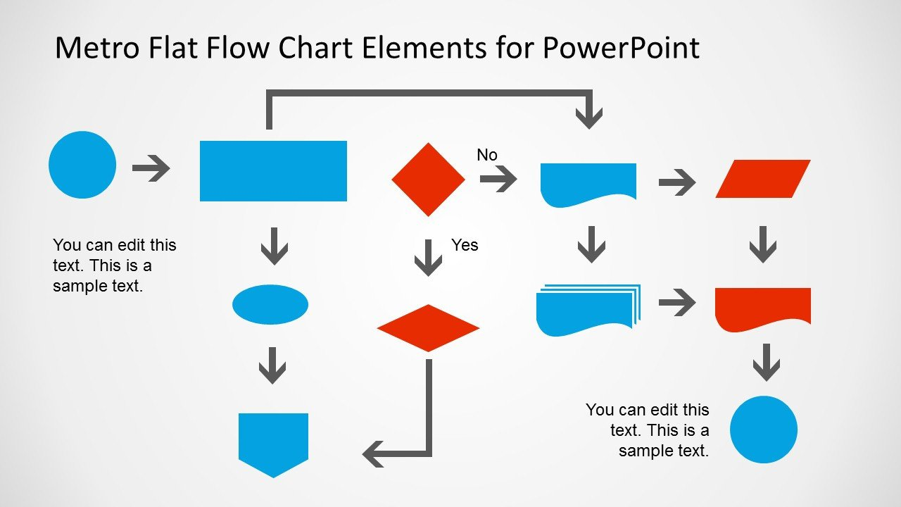 Flow Chart Template Powerpoint Free Metro Style Flow Chart Template for Powerpoint Slidemodel