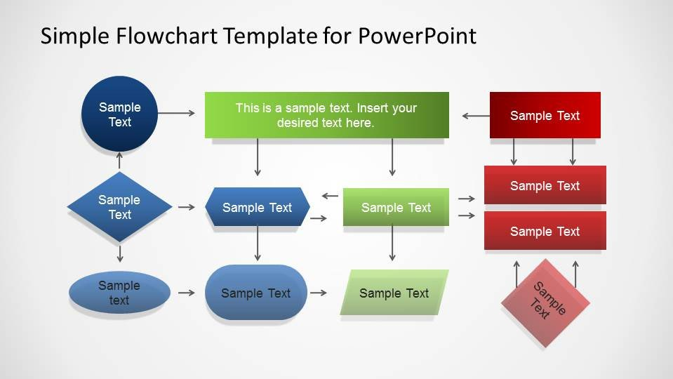 Flow Chart Template Powerpoint Free Simple Flowchart Template for Powerpoint Slidemodel