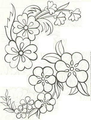Flower Patterns to Trace Colour It Sew It Trace It Etc