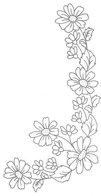 Flower Patterns to Trace Daisy Chain Drawing