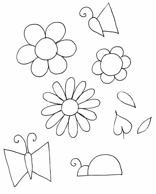 Flower Patterns to Trace Flower Pattern to Trace