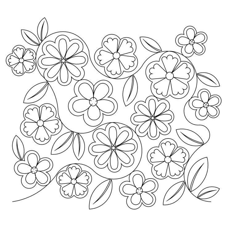 Flower Patterns to Trace Flower Patterns to Trace Coloring Home