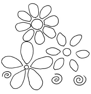 Flower Patterns to Trace Simple Flower Pattern Drawing at Getdrawings