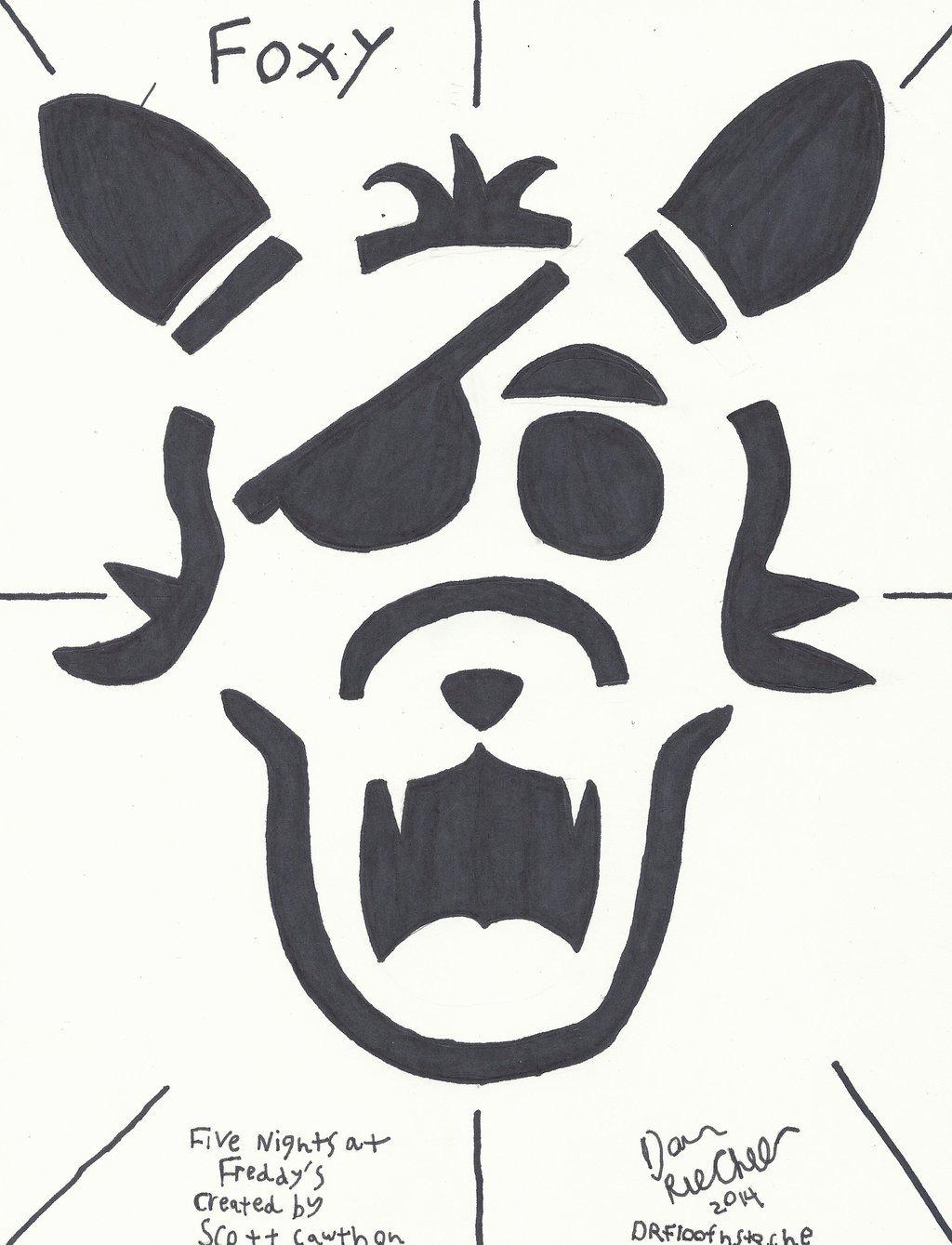 Fnaf Foxy Pumpkin Stencil F N A F Foxy Jack O Lanturn Layout by Drfloofnstache On