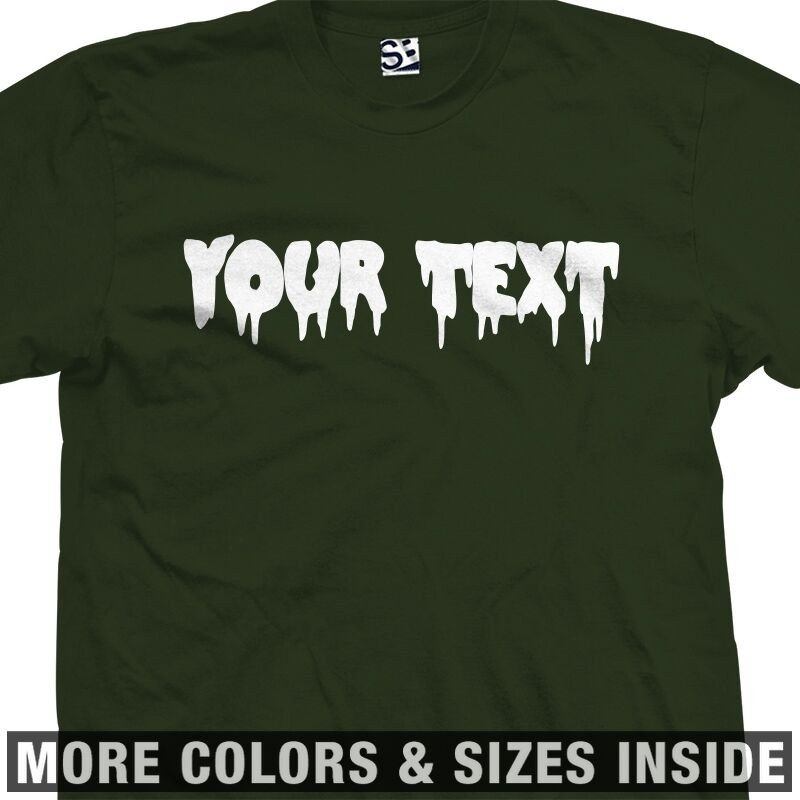 Fonts for T Shirts Custom Creepy Scary Font T Shirt All Sizes & Colors