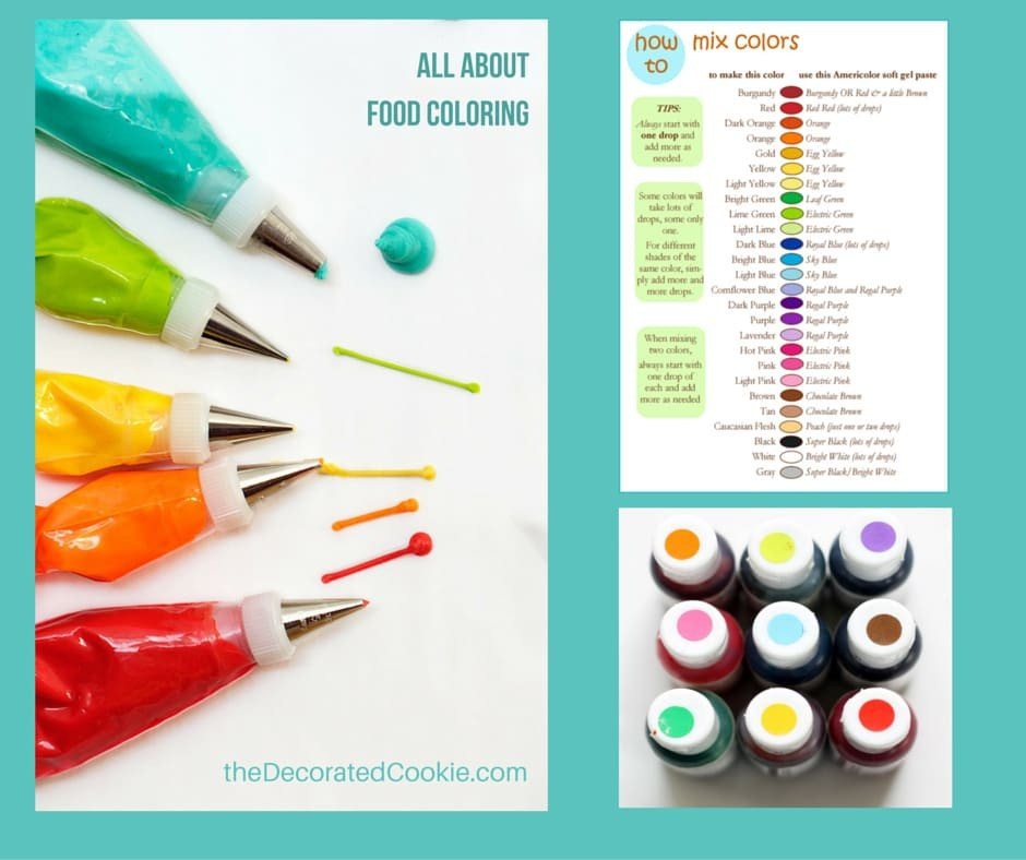 Food Coloring Mixing Chart All About Food Coloring the Decorated Cookie