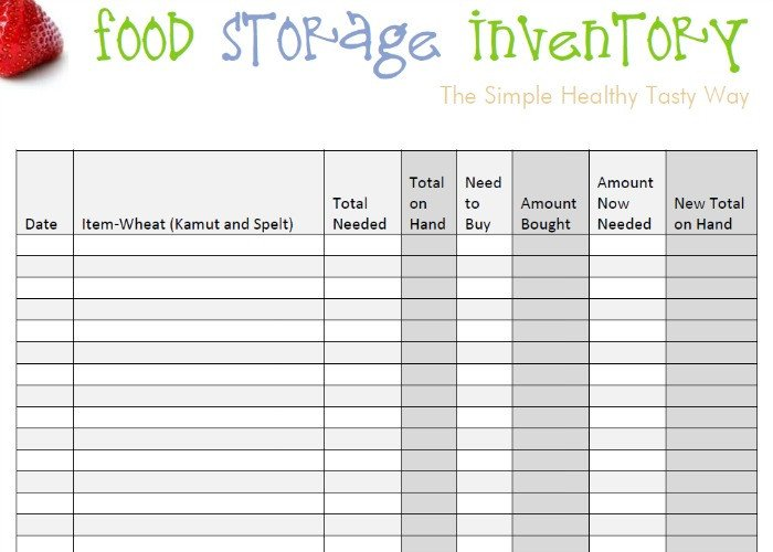 Food Inventory Sheet Printable Food Storage Inventory Spreadsheets You Can Download for